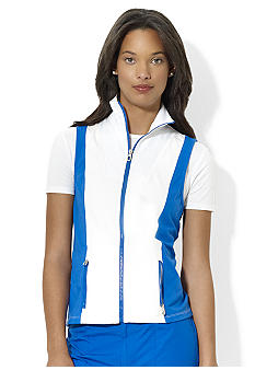 Lauren Active Color-Blocked Cotton Vest