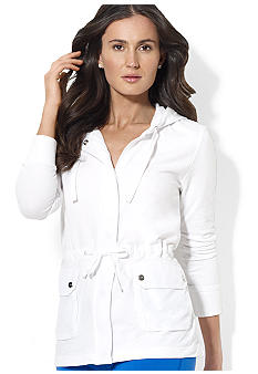 Lauren Active Terry Cotton Hooded Jacket