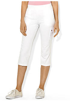 Lauren Active French Terry Cropped Cargo Pant