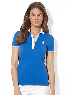 Lauren Active Contrast-Trimmed Cotton Polo