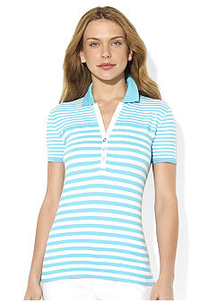 Lauren Active Short-Sleeved Striped Polo Shirt