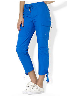Lauren Active Drawcord Cropped Cargo Pant