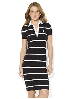 Lauren Active Striped Cotton Polo Dress