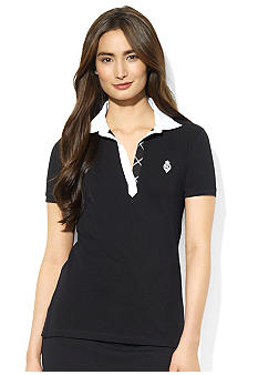 Lauren Active Open-Placket Cotton Polo