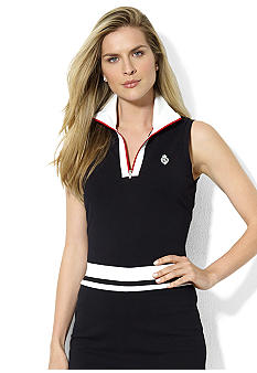 Lauren Active Half-Zip Sleeveless Polo