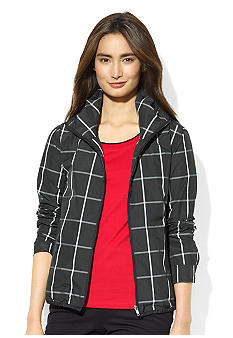 Lauren Active Tattersal Plaid Jacket