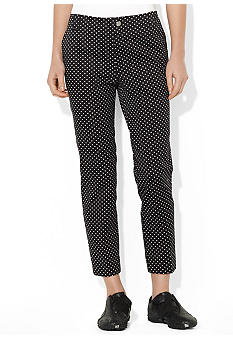 Lauren Active Polka-Dot Cotton Crop Pant