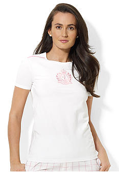 Lauren Active Short-Sleeved Signature Crest Jersey Crewneck Tee