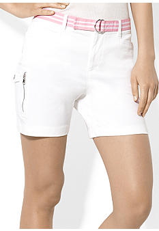 Lauren Active Belted Stretch-Cotton Twill Short