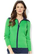 Lauren Active Full-Zip Ribbed Cardigan