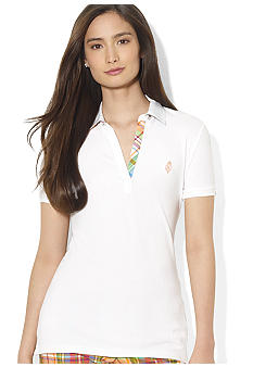 Lauren Active Plaid Interior-Trimmed Polo