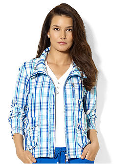 Lauren Active Cropped Plaid Jacket