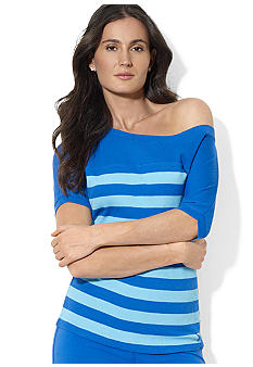 Lauren Active Striped Waffle-Knit Shirt