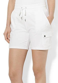 Lauren Active French Terry Drawcord Short