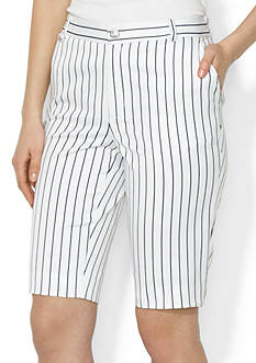 Lauren Active Straight Stretch-Cotton Short