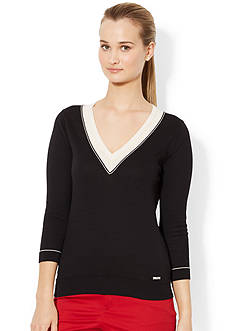 Lauren Active V-Neck Cotton Sweater