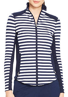 Lauren Active Striped Track Jacket