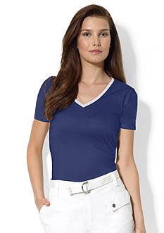 Lauren Active Cotton V-Neck Shirt