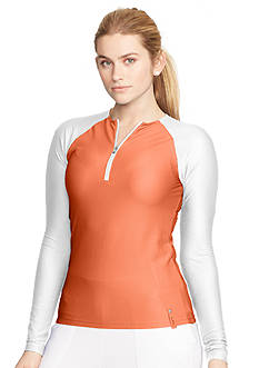 Lauren Active Honeycomb Half-Zip Pullover