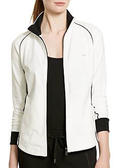 Lauren Active Stretch Cotton Mockneck Jacket