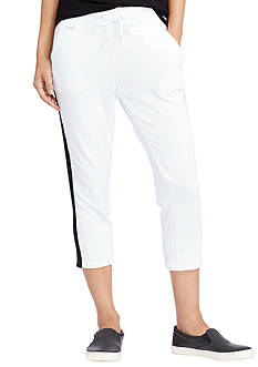 Lauren Active Side-Stripe Cropped Pants