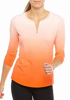 Lauren Active Ombr Half-Zip Shirt