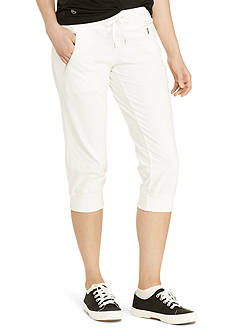Lauren Active Cropped Stretch Cotton Jogger