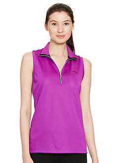 Lauren Active Piqu Mesh Sleeveless Pullover