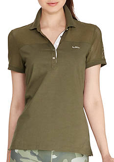 Lauren Active Mesh-Panel Polo Shirt