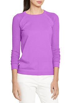 Lauren Active Mesh-Sleeve Sweater