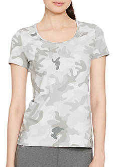 Lauren Active Camo-Print Stretch Cotton Tee