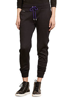 Lauren Ralph Lauren Mesh-Panel French Terry Jogger