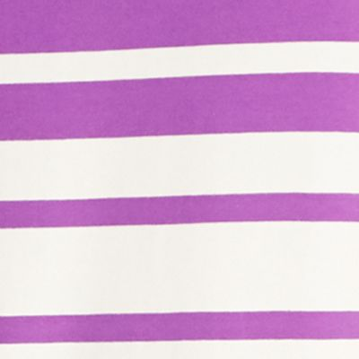 Women's Athletic Apparel: Tanks: Ultra Purple/White Lauren Active Striped Sleeveless Polo Shirt