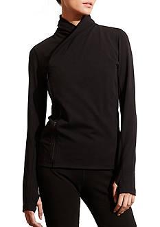 Lauren Ralph Lauren Asymmetrical-Zip Jersey Jacket