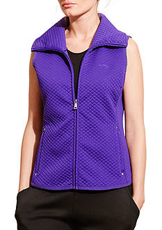 Lauren Active Quilted Jacquard-Knit Vest