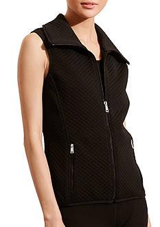 Lauren Ralph Lauren Quilted Jacquard-Knit Vest