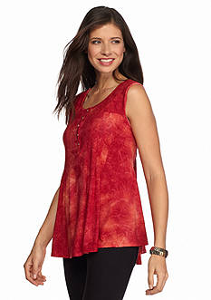 New Directions Ombre Jacquard Swing Popover Top