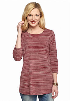 New Directions Multi Stripe Two Tone Swank Top