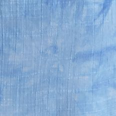 Below the Knee Skirts for Women: Blue / White New Directions Tiered Tie Dye Linen Skirt