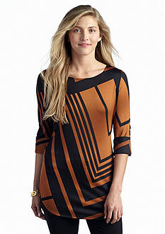 New Directions® Abstract Chevron Tunic