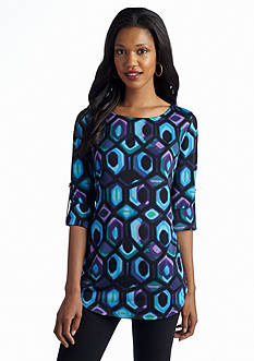 New Directions® Groovy Geo Tunic Top