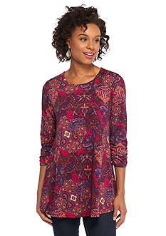 New Directions Paisley Print Swing Top