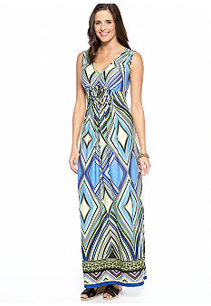 New Directions Bar Back Detail Maxi Dress