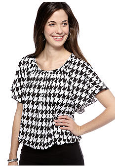 New Directions Flutter Sleeve Top