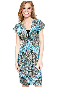 New Directions Short Border Print Dress