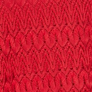 Knit Tops for Women: Rio Red New Directions Crochet Lace Trapeze Top