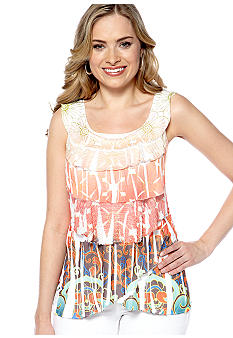 New Directions Sleeveless Tiered Top