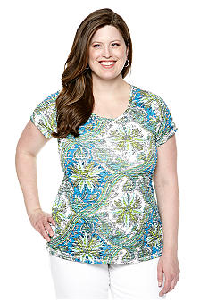 New Directions Plus Size Sublimation Printed Top