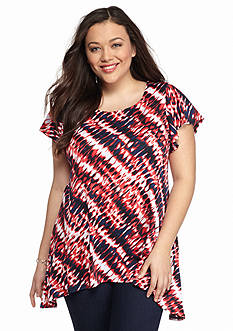 New Directions Plus Size Bar Back Top