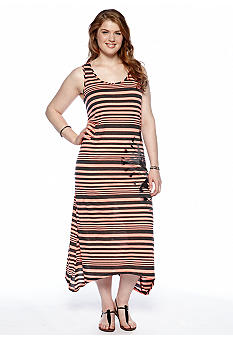 Cocomo Plus Size Striped Maxi Dress
